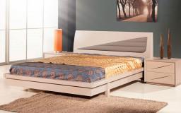 Κρεβατοκάμαρα σε μοντέρνο στυλ  εξ ολοκλήρου από αμερικάνικο δρυς μασίφ ξύλο όπως και τα συρτάρια με το ιδιαίτερο ντιζάιν.