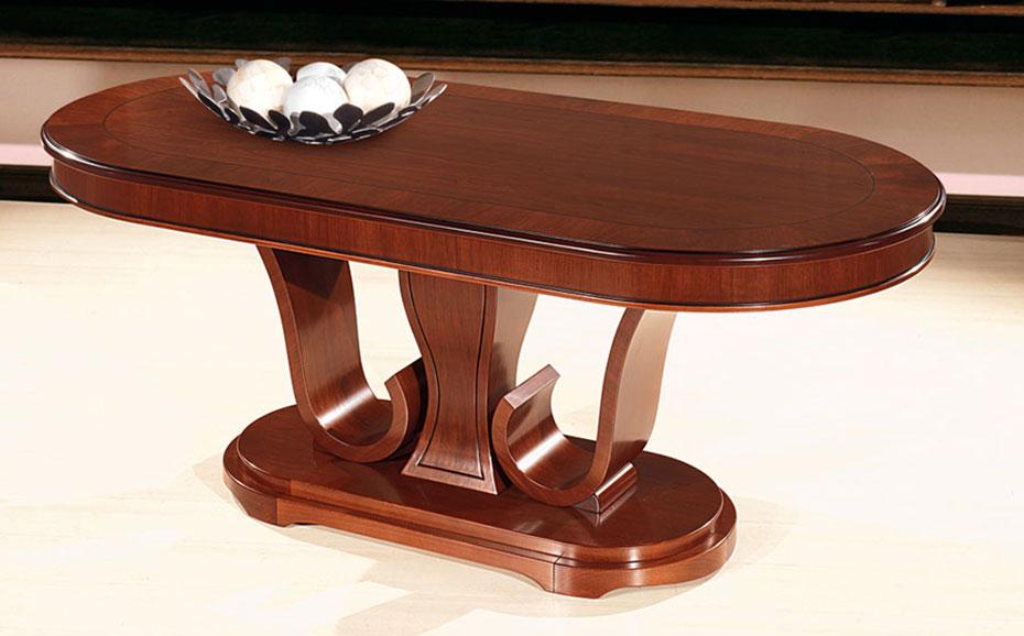Τραπέζι σε σχήμα οβάλ. Design ιδιαίτερο εξ ολοκλήρου από αμερικάνικη καρυδιά.