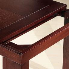 Διαχρονικό μοντέρνο τραπέζι από μασίφ ξύλο δρυς.